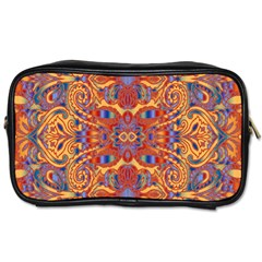 Oriental Watercolor Ornaments Kaleidoscope Mosaic Toiletries Bags 2 Side