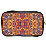 Oriental Watercolor Ornaments Kaleidoscope Mosaic Toiletries Bags 2-Side