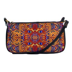 Oriental Watercolor Ornaments Kaleidoscope Mosaic Shoulder Clutch Bags by EDDArt