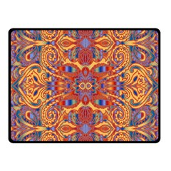 Oriental Watercolor Ornaments Kaleidoscope Mosaic Fleece Blanket (small)