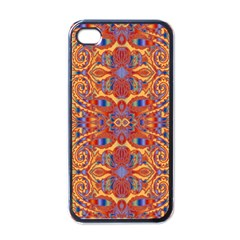 Oriental Watercolor Ornaments Kaleidoscope Mosaic Apple Iphone 4 Case (black)