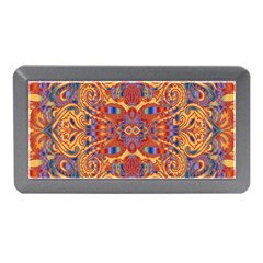Oriental Watercolor Ornaments Kaleidoscope Mosaic Memory Card Reader (mini) by EDDArt