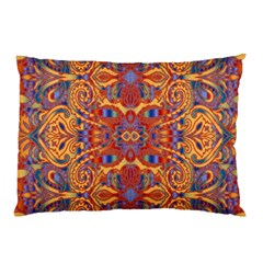 Oriental Watercolor Ornaments Kaleidoscope Mosaic Pillow Case (two Sides) by EDDArt