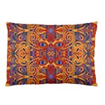 Oriental Watercolor Ornaments Kaleidoscope Mosaic Pillow Case (Two Sides) Front