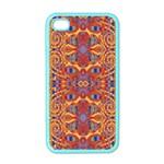 Oriental Watercolor Ornaments Kaleidoscope Mosaic Apple iPhone 4 Case (Color)