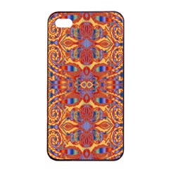 Oriental Watercolor Ornaments Kaleidoscope Mosaic Apple Iphone 4/4s Seamless Case (black) by EDDArt
