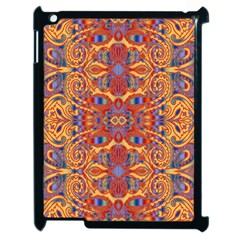 Oriental Watercolor Ornaments Kaleidoscope Mosaic Apple Ipad 2 Case (black)
