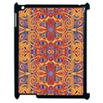 Oriental Watercolor Ornaments Kaleidoscope Mosaic Apple iPad 2 Case (Black) Front