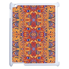 Oriental Watercolor Ornaments Kaleidoscope Mosaic Apple Ipad 2 Case (white) by EDDArt