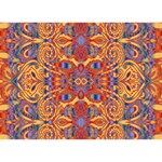 Oriental Watercolor Ornaments Kaleidoscope Mosaic Heart 3D Greeting Card (7x5) Front