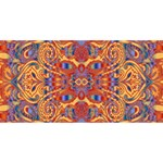 Oriental Watercolor Ornaments Kaleidoscope Mosaic Best Wish 3D Greeting Card (8x4) Front