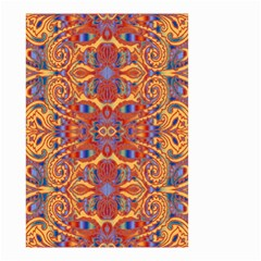 Oriental Watercolor Ornaments Kaleidoscope Mosaic Small Garden Flag (two Sides) by EDDArt