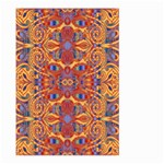Oriental Watercolor Ornaments Kaleidoscope Mosaic Large Garden Flag (Two Sides)