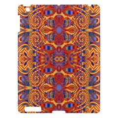 Oriental Watercolor Ornaments Kaleidoscope Mosaic Apple Ipad 3/4 Hardshell Case by EDDArt