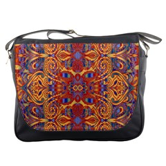 Oriental Watercolor Ornaments Kaleidoscope Mosaic Messenger Bags