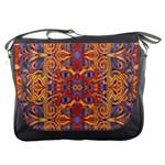 Oriental Watercolor Ornaments Kaleidoscope Mosaic Messenger Bags