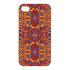 Oriental Watercolor Ornaments Kaleidoscope Mosaic Apple Iphone 4/4s Premium Hardshell Case by EDDArt