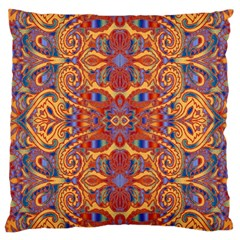 Oriental Watercolor Ornaments Kaleidoscope Mosaic Large Cushion Case (two Sides)