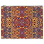 Oriental Watercolor Ornaments Kaleidoscope Mosaic Cosmetic Bag (XXXL)  Front