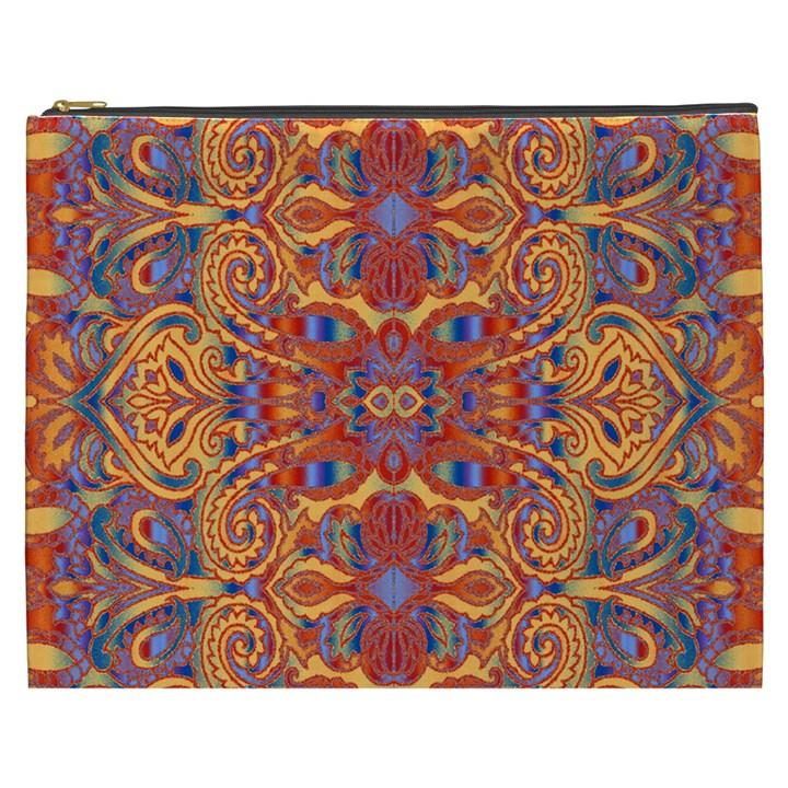Oriental Watercolor Ornaments Kaleidoscope Mosaic Cosmetic Bag (XXXL)
