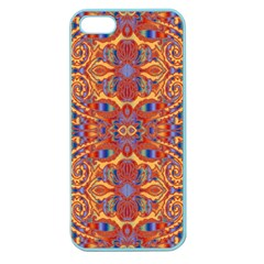 Oriental Watercolor Ornaments Kaleidoscope Mosaic Apple Seamless Iphone 5 Case (color) by EDDArt