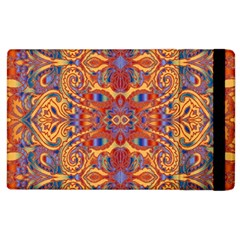 Oriental Watercolor Ornaments Kaleidoscope Mosaic Apple Ipad 2 Flip Case by EDDArt