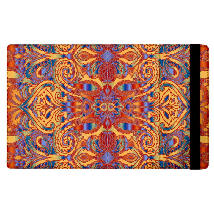 Oriental Watercolor Ornaments Kaleidoscope Mosaic Apple iPad 2 Flip Case