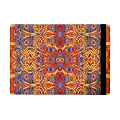 Oriental Watercolor Ornaments Kaleidoscope Mosaic Apple Ipad Mini Flip Case by EDDArt