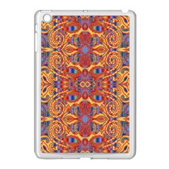 Oriental Watercolor Ornaments Kaleidoscope Mosaic Apple Ipad Mini Case (white) by EDDArt