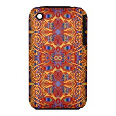 Oriental Watercolor Ornaments Kaleidoscope Mosaic Apple Iphone 3g/3gs Hardshell Case (pc+silicone) by EDDArt