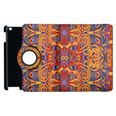 Oriental Watercolor Ornaments Kaleidoscope Mosaic Apple Ipad 2 Flip 360 Case by EDDArt