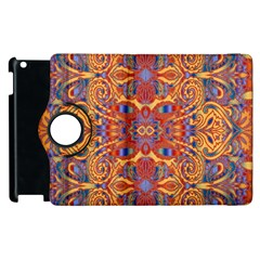 Oriental Watercolor Ornaments Kaleidoscope Mosaic Apple Ipad 3/4 Flip 360 Case by EDDArt