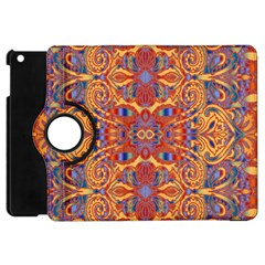 Oriental Watercolor Ornaments Kaleidoscope Mosaic Apple Ipad Mini Flip 360 Case by EDDArt
