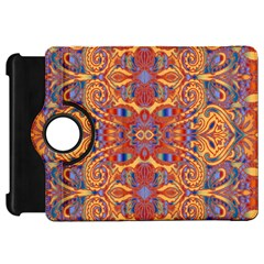 Oriental Watercolor Ornaments Kaleidoscope Mosaic Kindle Fire Hd Flip 360 Case by EDDArt