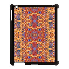 Oriental Watercolor Ornaments Kaleidoscope Mosaic Apple Ipad 3/4 Case (black) by EDDArt