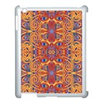 Oriental Watercolor Ornaments Kaleidoscope Mosaic Apple iPad 3/4 Case (White) Front