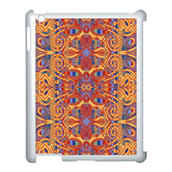 Oriental Watercolor Ornaments Kaleidoscope Mosaic Apple iPad 3/4 Case (White)