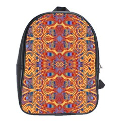 Oriental Watercolor Ornaments Kaleidoscope Mosaic School Bags (xl)  by EDDArt