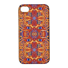 Oriental Watercolor Ornaments Kaleidoscope Mosaic Apple Iphone 4/4s Hardshell Case With Stand by EDDArt