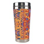 Oriental Watercolor Ornaments Kaleidoscope Mosaic Stainless Steel Travel Tumblers Left