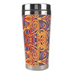Oriental Watercolor Ornaments Kaleidoscope Mosaic Stainless Steel Travel Tumblers Right
