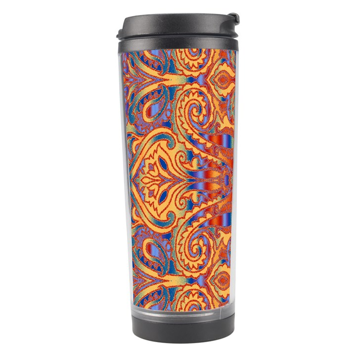Oriental Watercolor Ornaments Kaleidoscope Mosaic Travel Tumbler
