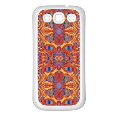 Oriental Watercolor Ornaments Kaleidoscope Mosaic Samsung Galaxy S3 Back Case (white) by EDDArt