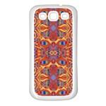Oriental Watercolor Ornaments Kaleidoscope Mosaic Samsung Galaxy S3 Back Case (White)
