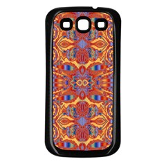 Oriental Watercolor Ornaments Kaleidoscope Mosaic Samsung Galaxy S3 Back Case (black)