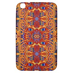 Oriental Watercolor Ornaments Kaleidoscope Mosaic Samsung Galaxy Tab 3 (8 ) T3100 Hardshell Case