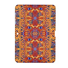 Oriental Watercolor Ornaments Kaleidoscope Mosaic Samsung Galaxy Tab 2 (10 1 ) P5100 Hardshell Case