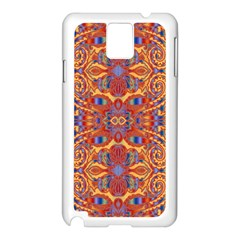 Oriental Watercolor Ornaments Kaleidoscope Mosaic Samsung Galaxy Note 3 N9005 Case (white) by EDDArt