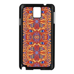 Oriental Watercolor Ornaments Kaleidoscope Mosaic Samsung Galaxy Note 3 N9005 Case (black) by EDDArt