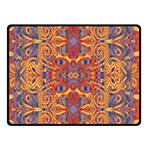 Oriental Watercolor Ornaments Kaleidoscope Mosaic Double Sided Fleece Blanket (Small)  45 x34 Blanket Back